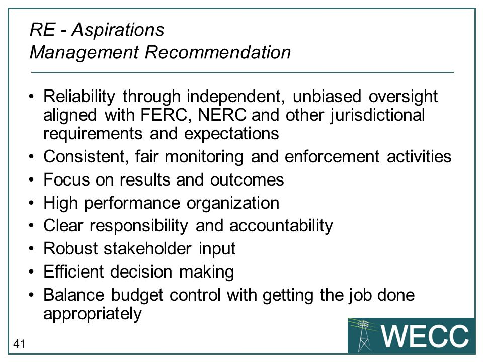 RE - Aspirations Management Recommendation