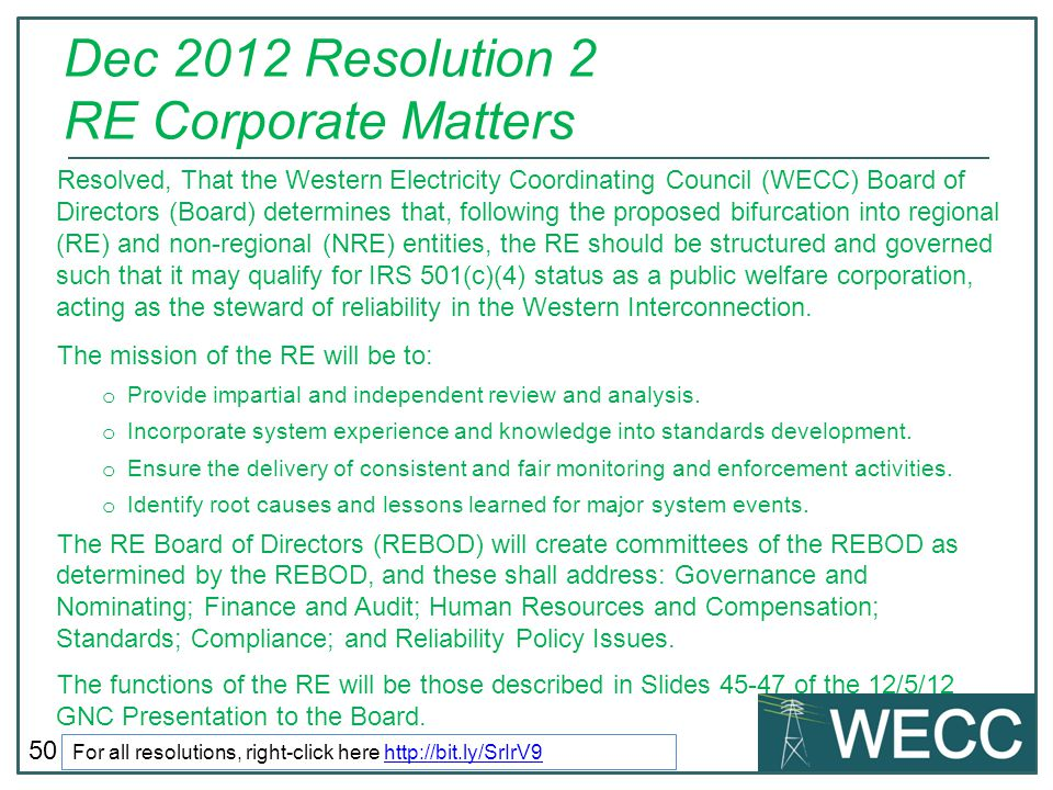Dec 2012 Resolution 2 RE Corporate Matters