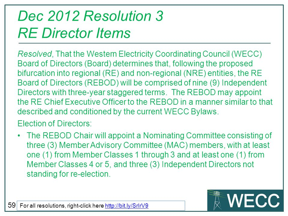 Dec 2012 Resolution 3 RE Director Items
