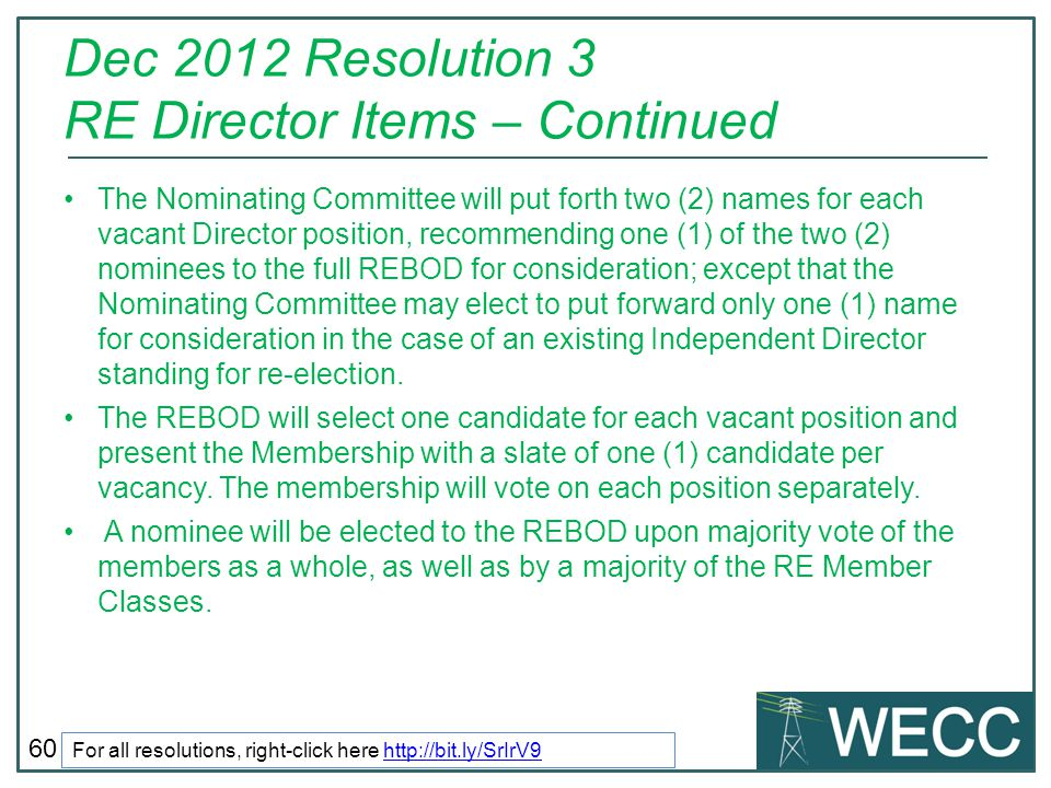 Dec 2012 Resolution 3 RE Director Items – Continued