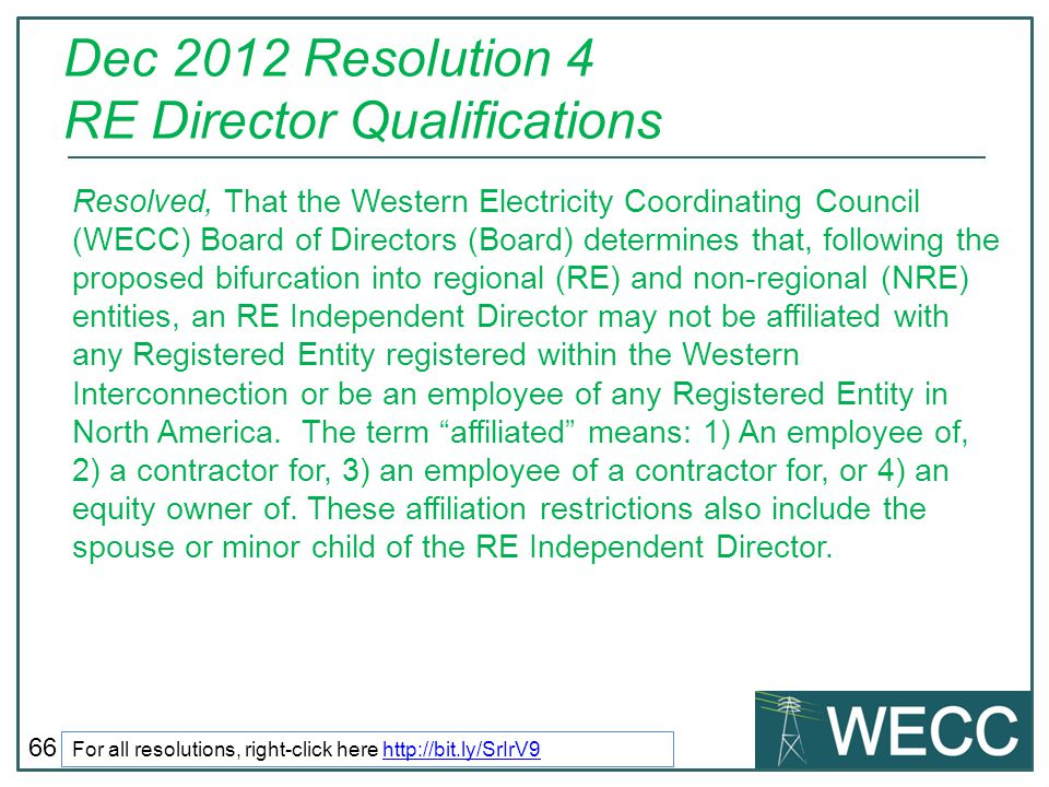 Dec 2012 Resolution 4 RE Director Qualifications