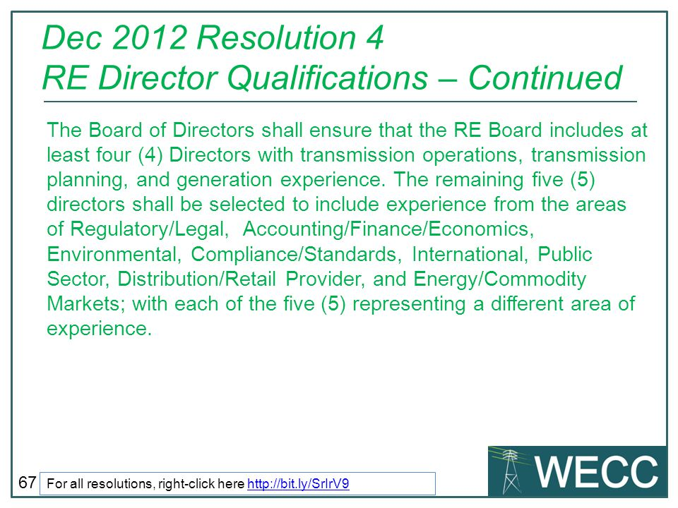 Dec 2012 Resolution 4 RE Director Qualifications – Continued