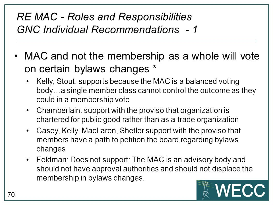 RE MAC - Roles and Responsibilities GNC Individual Recommendations - 1