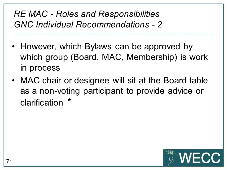 RE MAC - Roles and Responsibilities GNC Individual Recommendations - 2