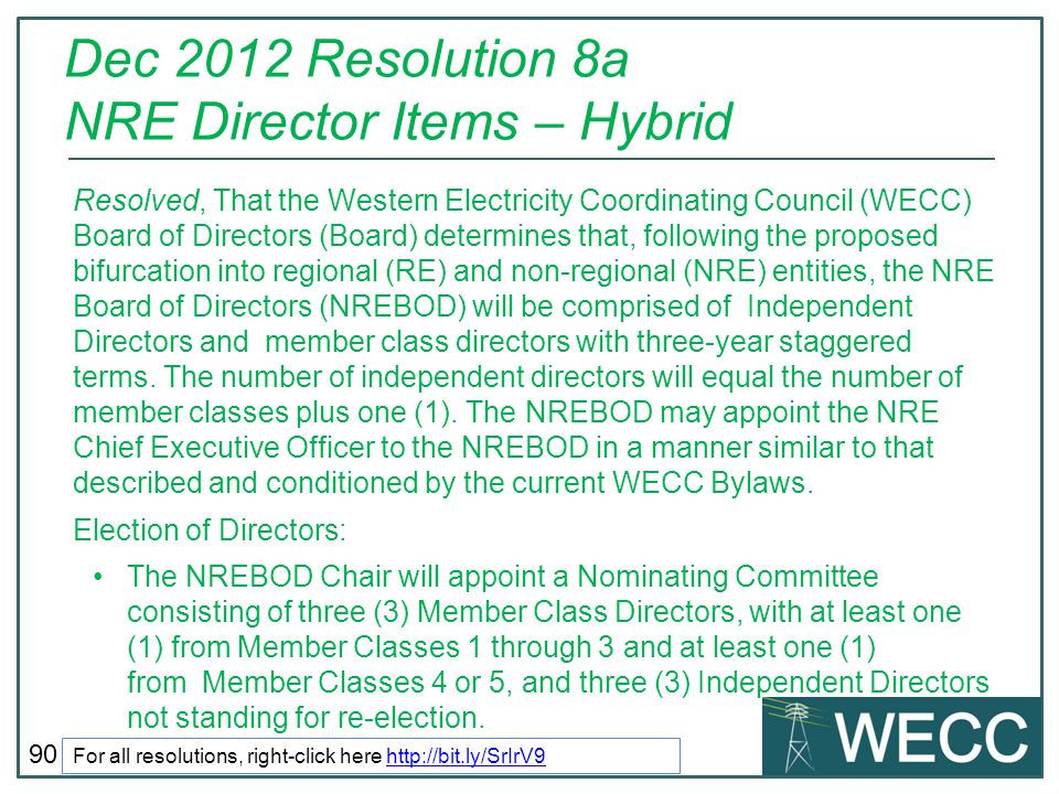 Dec 2012 Resolution 8a NRE Director Items – Hybrid