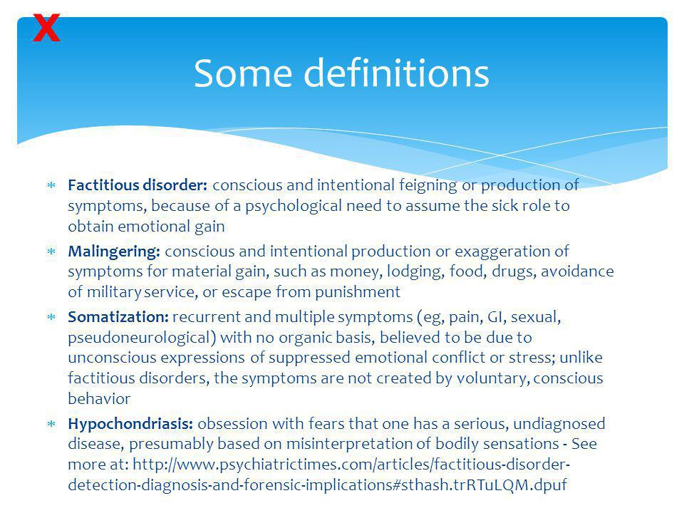 X Some definitions.