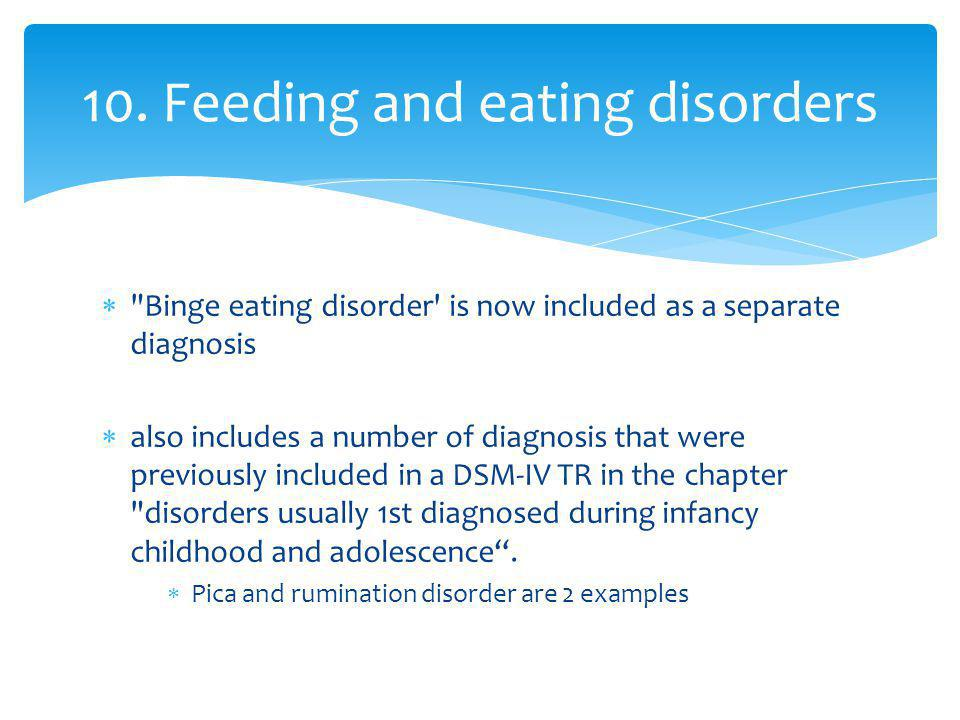 10. Feeding and eating disorders