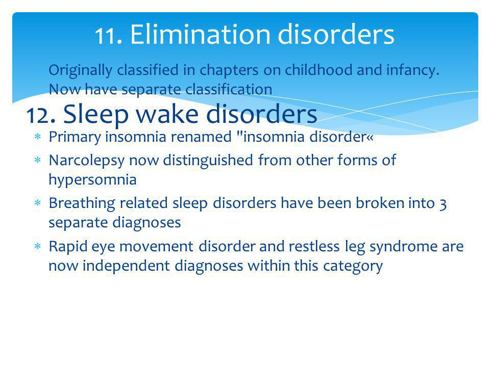 11. Elimination disorders