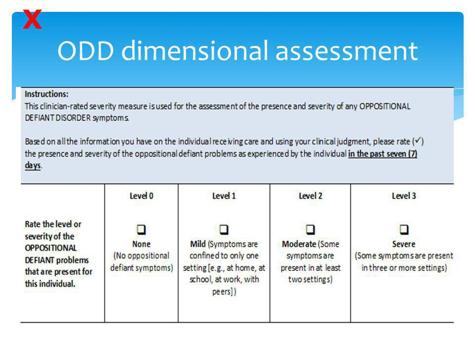 ODD dimensional assessment