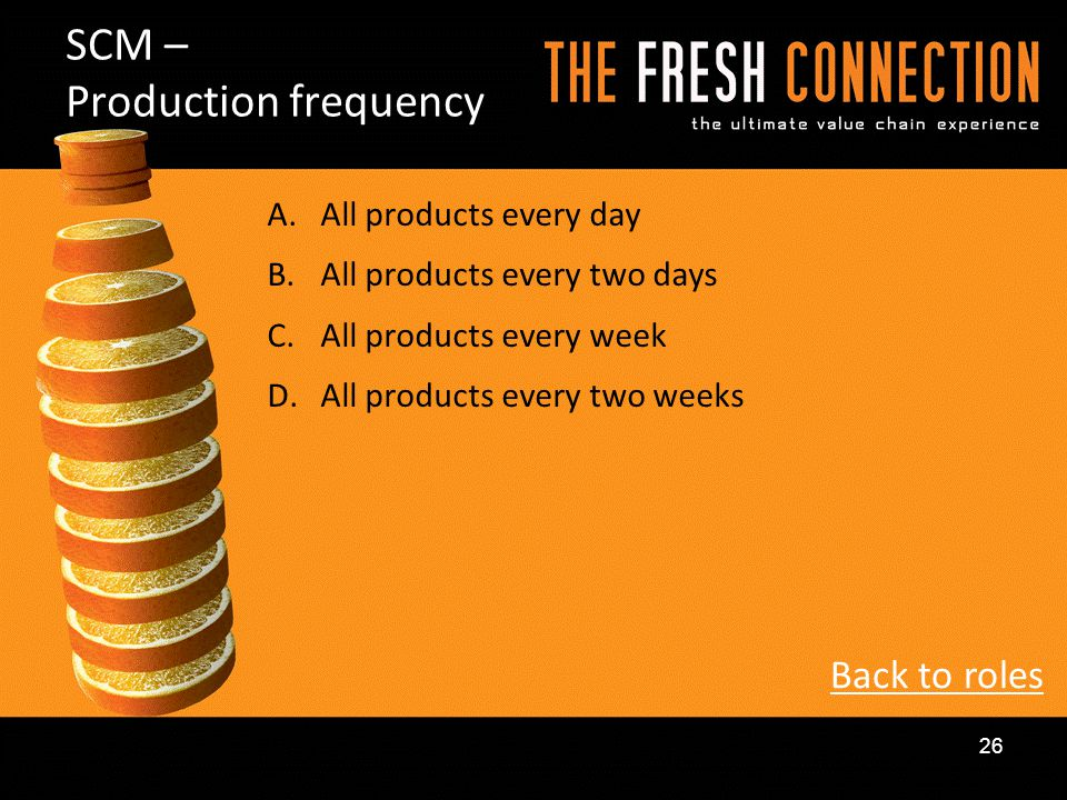 SCM – Production frequency