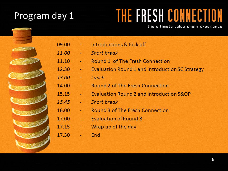 Program day 1