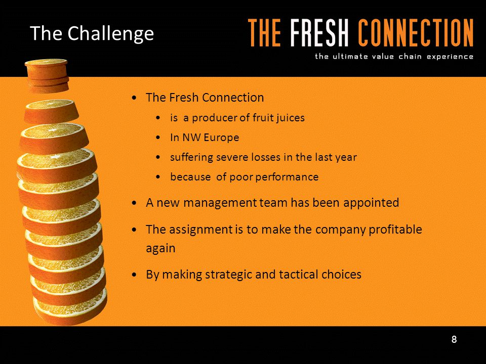 The Challenge The Fresh Connection