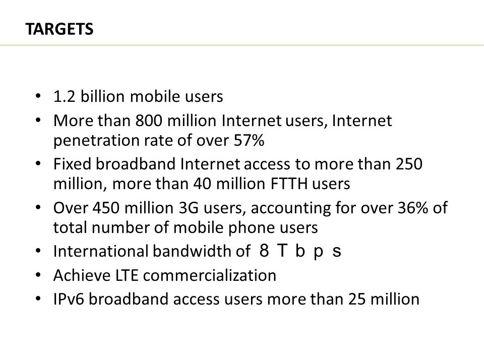 TARGETS 1.2 billion mobile users
