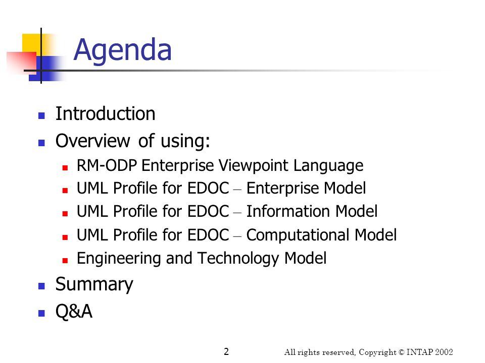 Agenda Introduction Overview of using: Summary Q&A