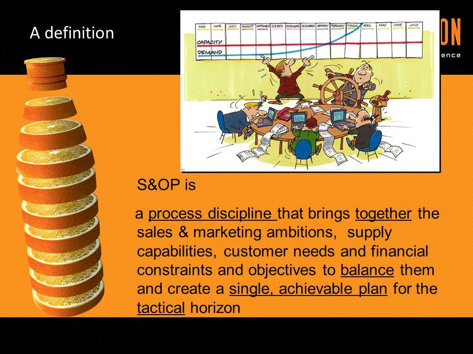 A definition S&OP is.