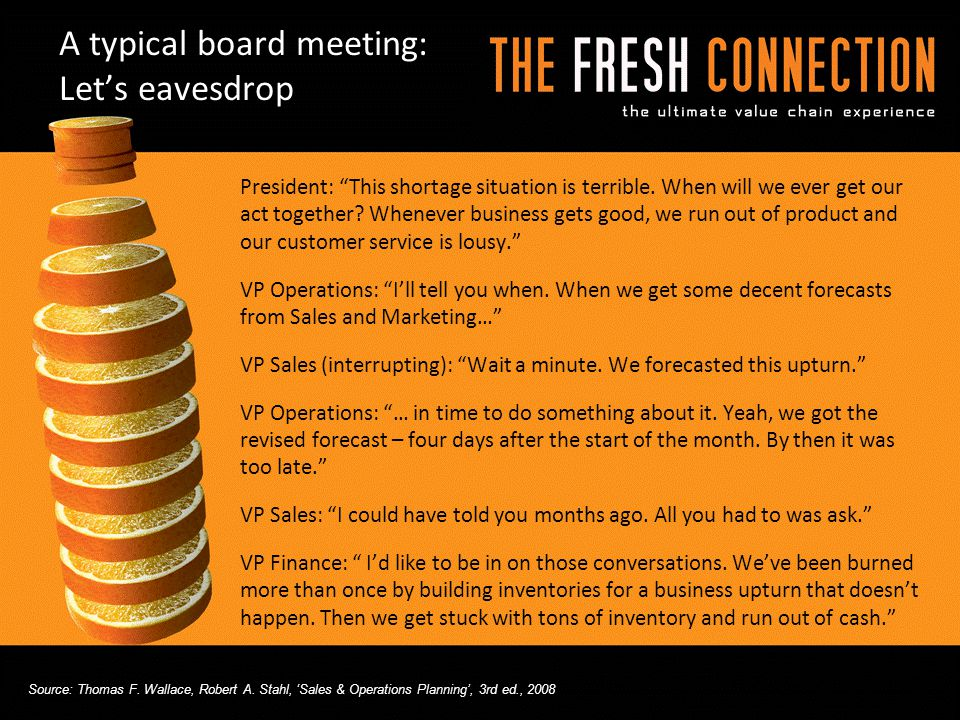 A typical board meeting: Let's eavesdrop