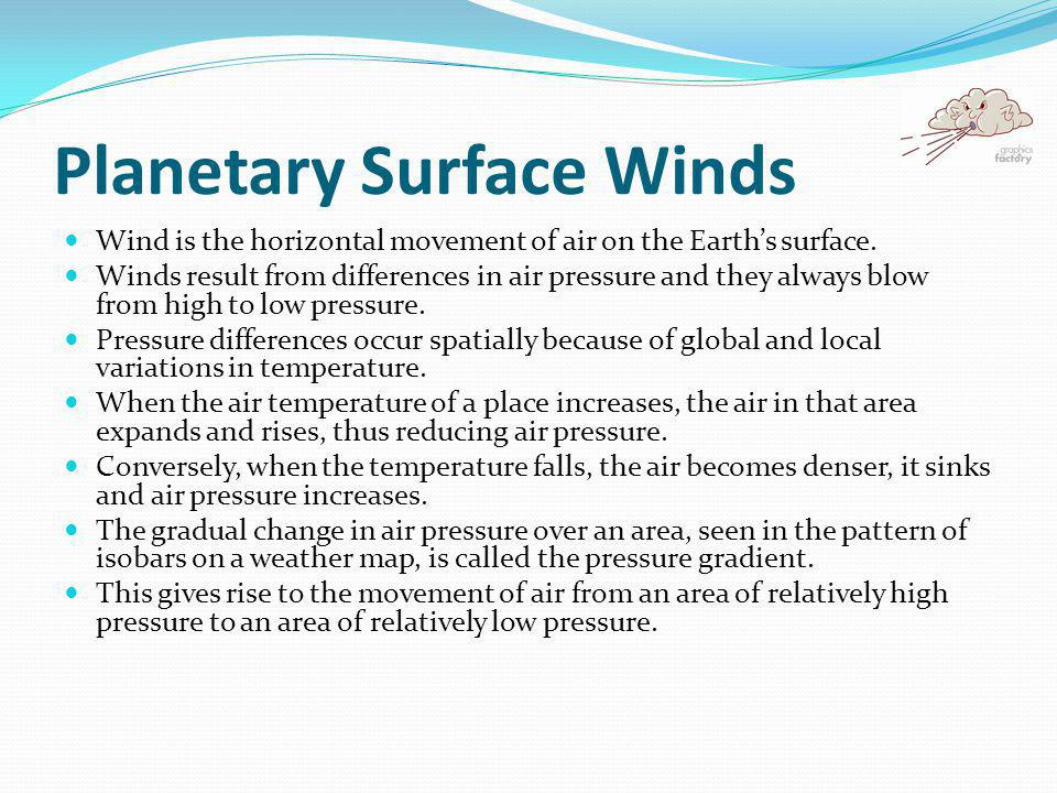 Planetary Surface Winds