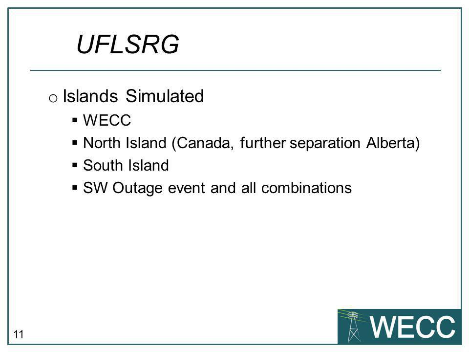 UFLSRG Islands Simulated WECC