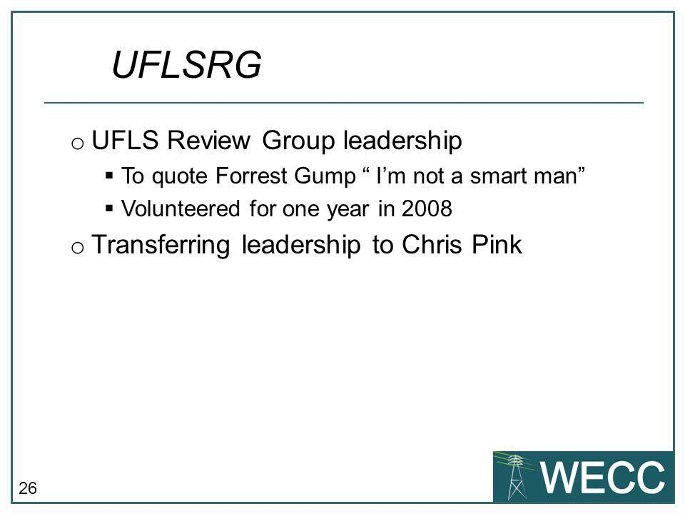 UFLSRG UFLS Review Group leadership