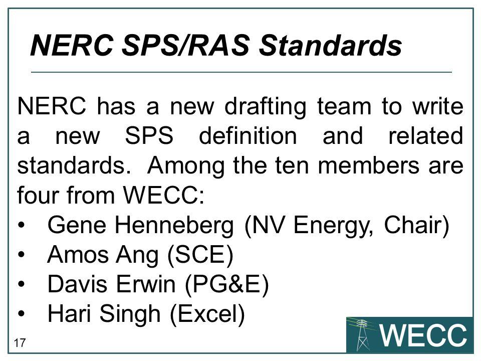 NERC SPS/RAS Standards