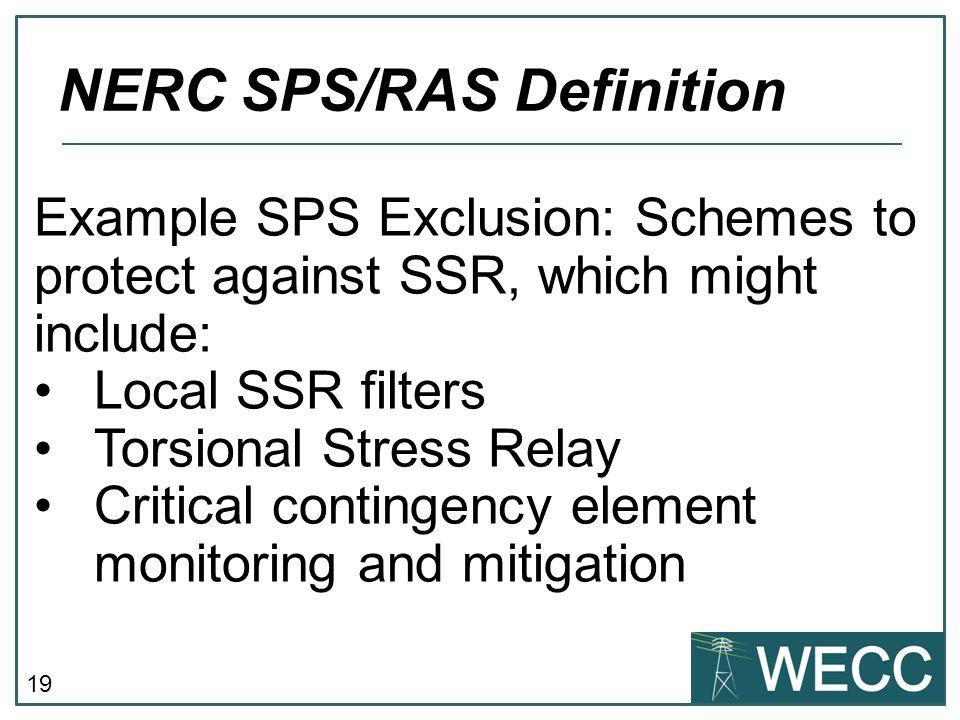 NERC SPS/RAS Definition