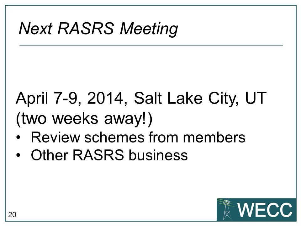 April 7-9, 2014, Salt Lake City, UT (two weeks away!)