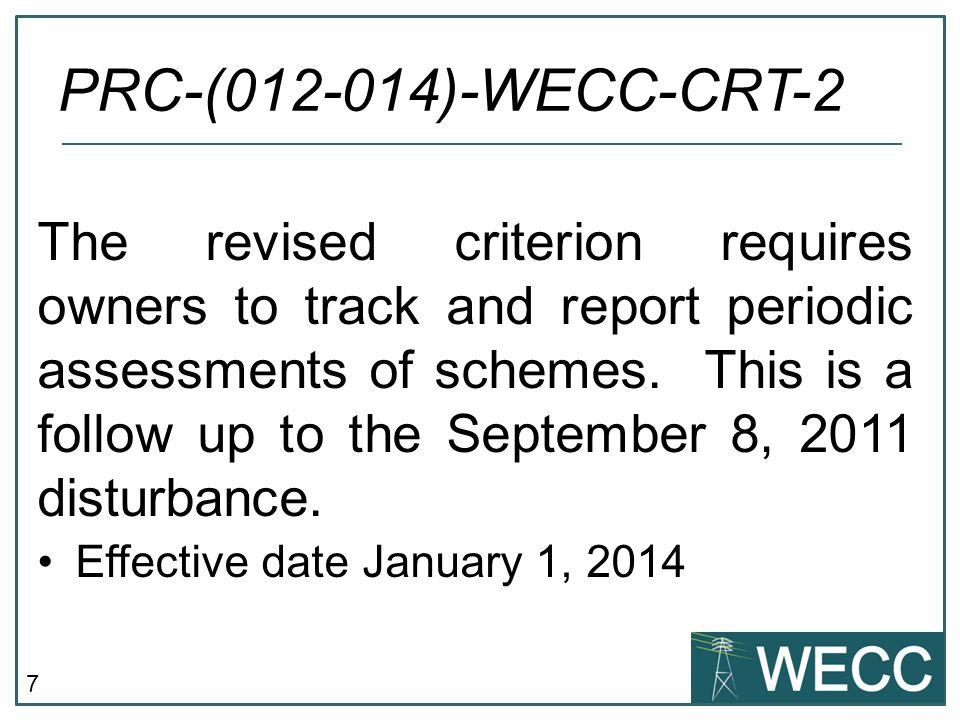 PRC-(012-014)-WECC-CRT-2