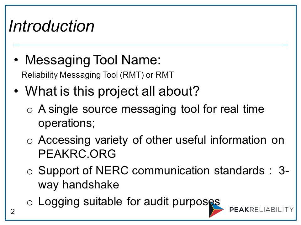 Introduction Messaging Tool Name: What is this project all about