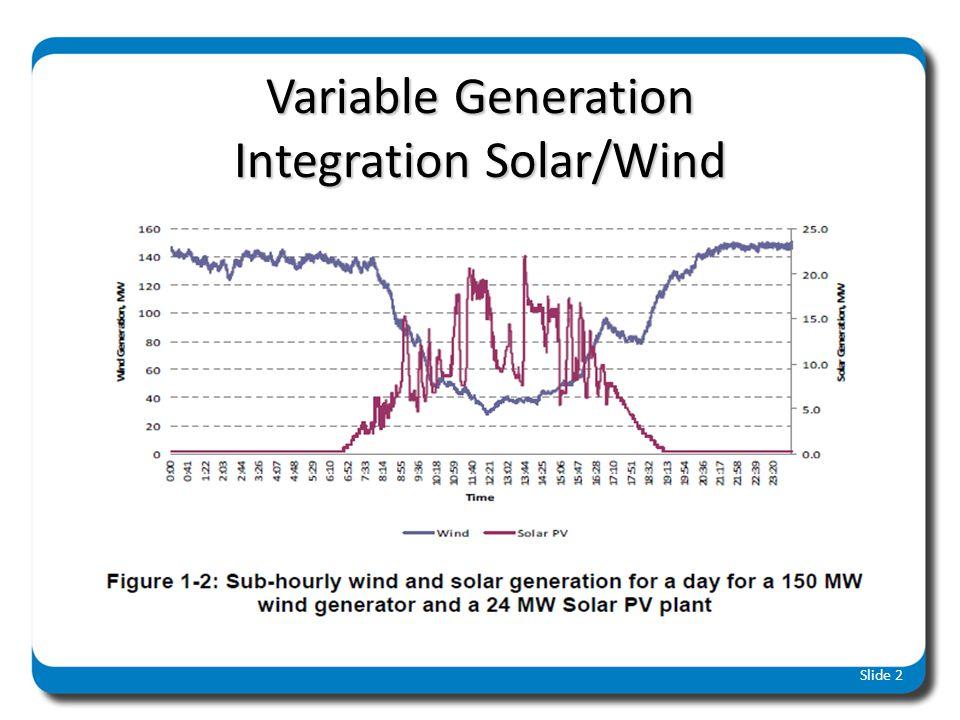 Variable Generation Integration Solar/Wind