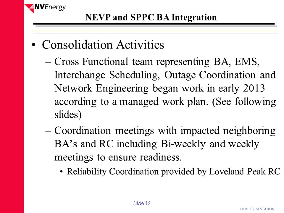 Consolidation Activities