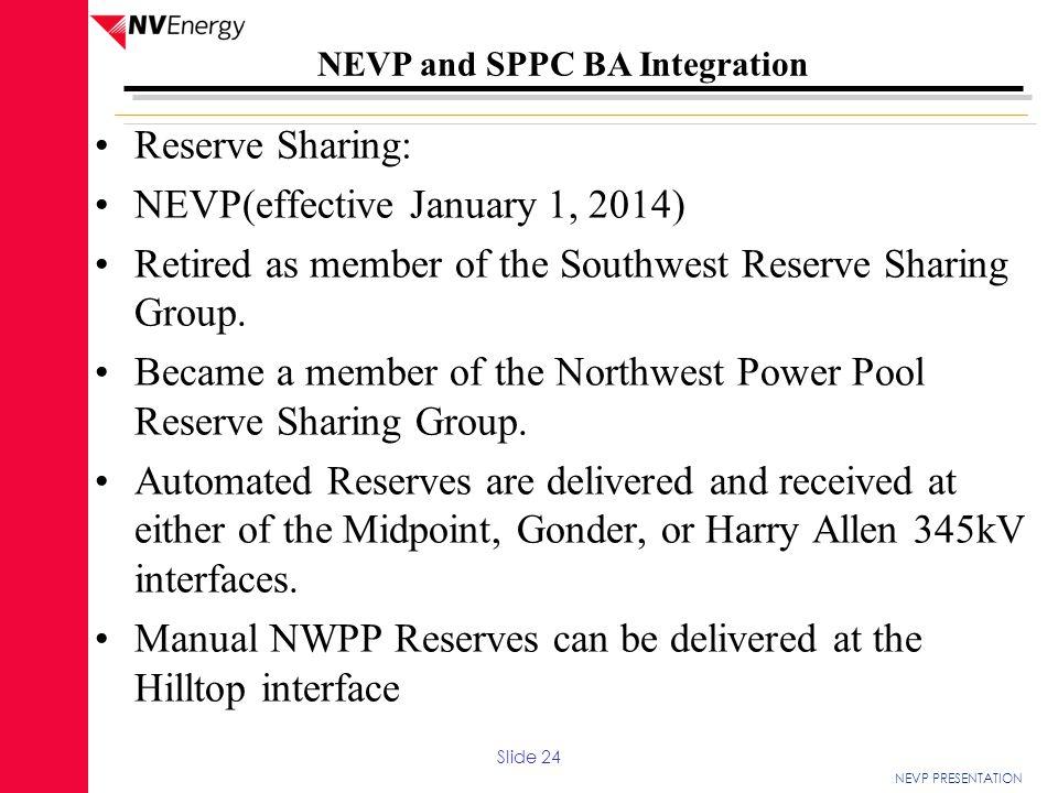 NEVP(effective January 1, 2014)