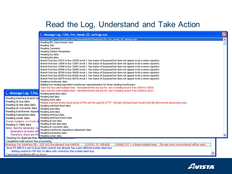 Read the Log, Understand and Take Action