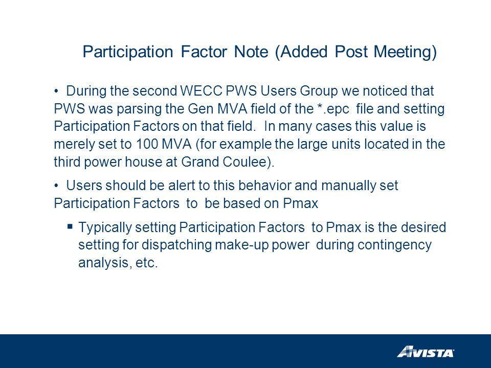 Participation Factor Note (Added Post Meeting)