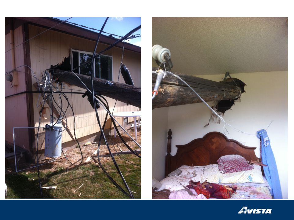 Dump truck providing smart grid to a home in Othello, WA…losses should be low if your alarm clock operates at 13.2 kV