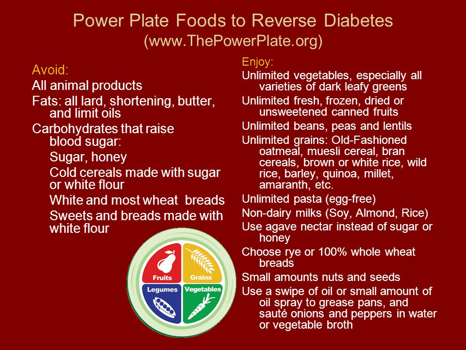 Power Plate Foods to Reverse Diabetes (www.ThePowerPlate.org)