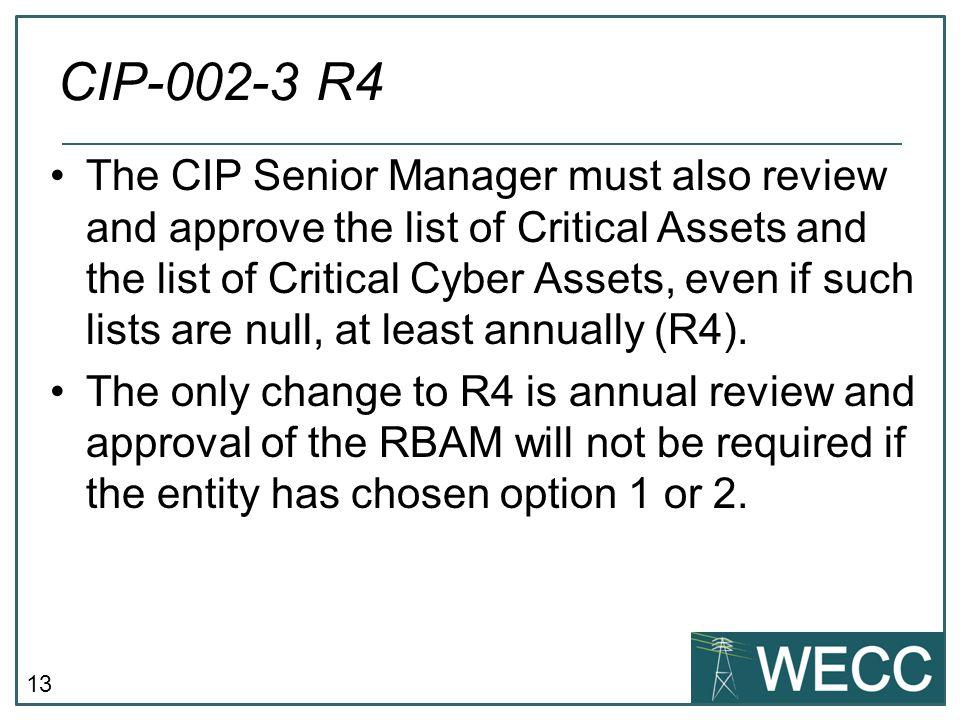 CIP-002-3 R4
