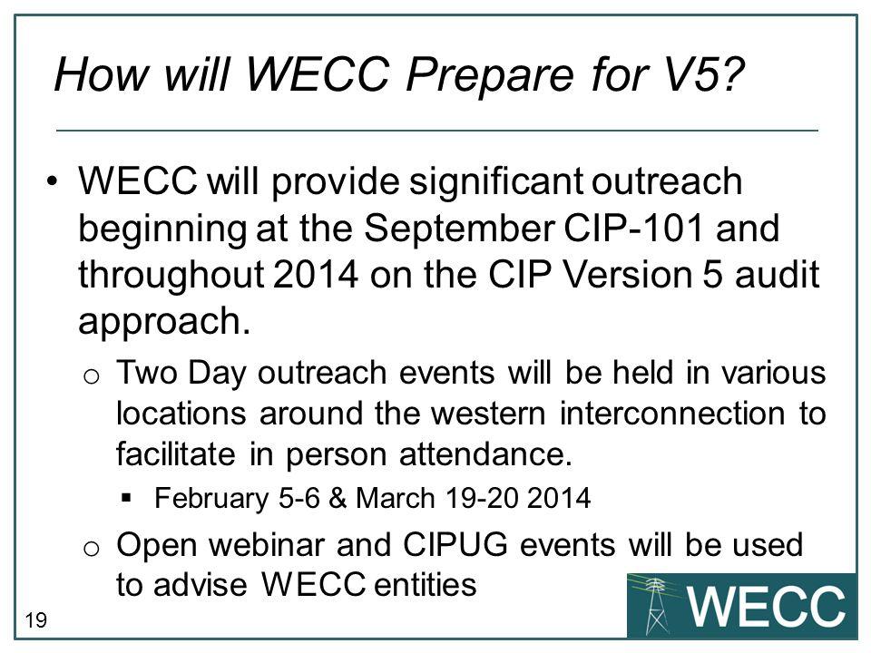 How will WECC Prepare for V5