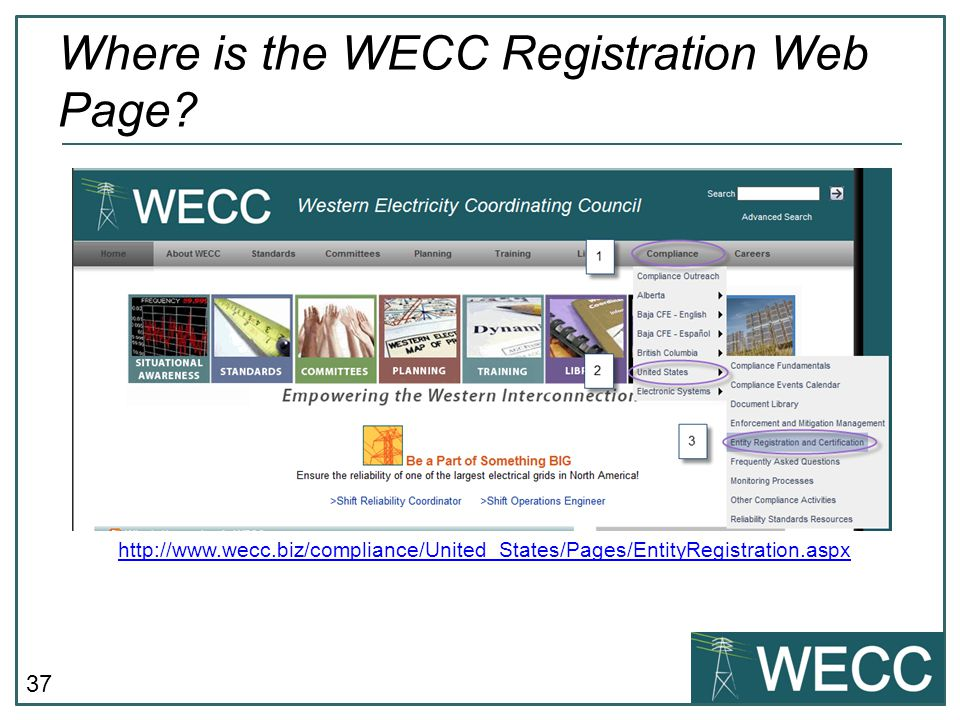 Where is the WECC Registration Web Page