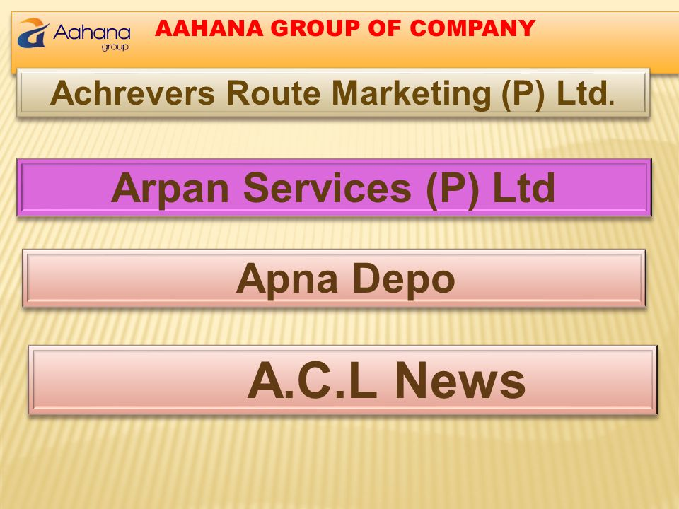 Achrevers Route Marketing (P) Ltd.
