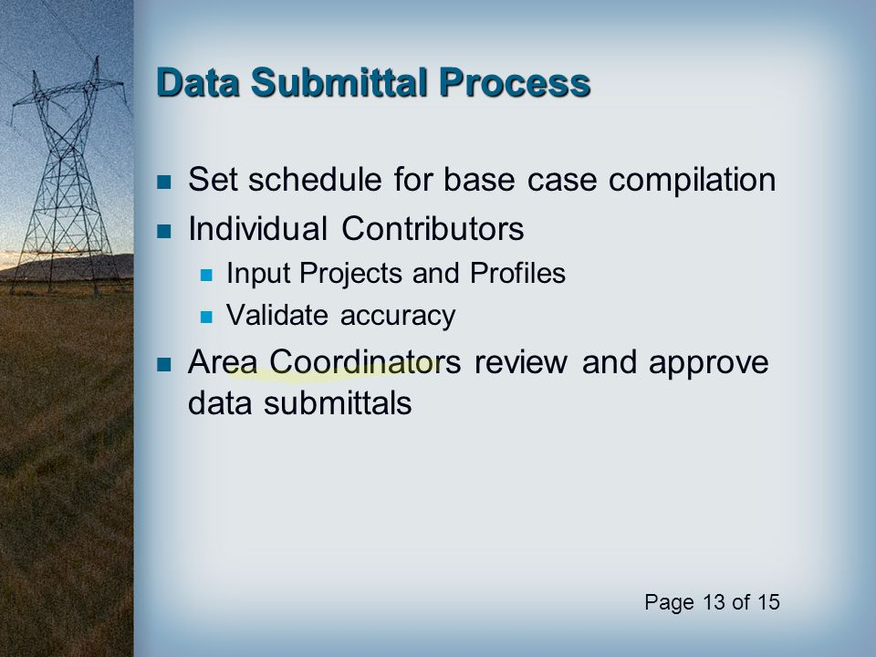Data Submittal Process