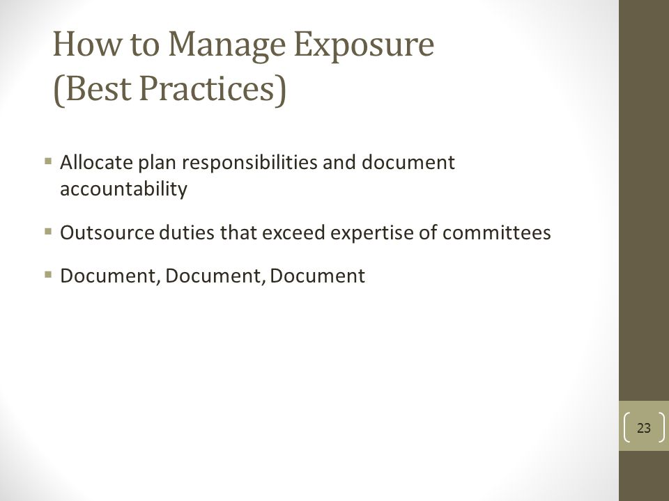 How to Manage Exposure (Best Practices)