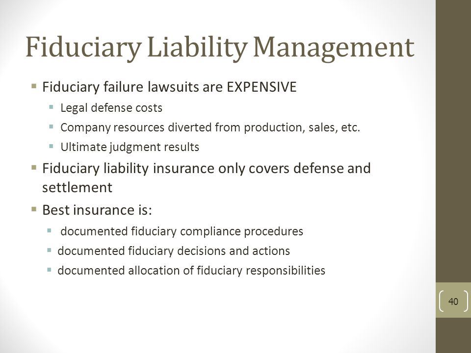 Fiduciary Liability Management