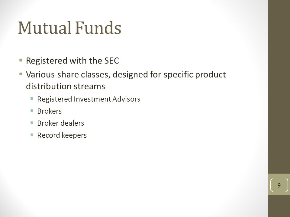 Mutual Funds Registered with the SEC