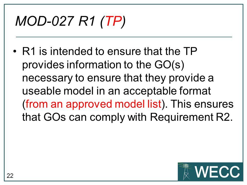MOD-027 R1 (TP)