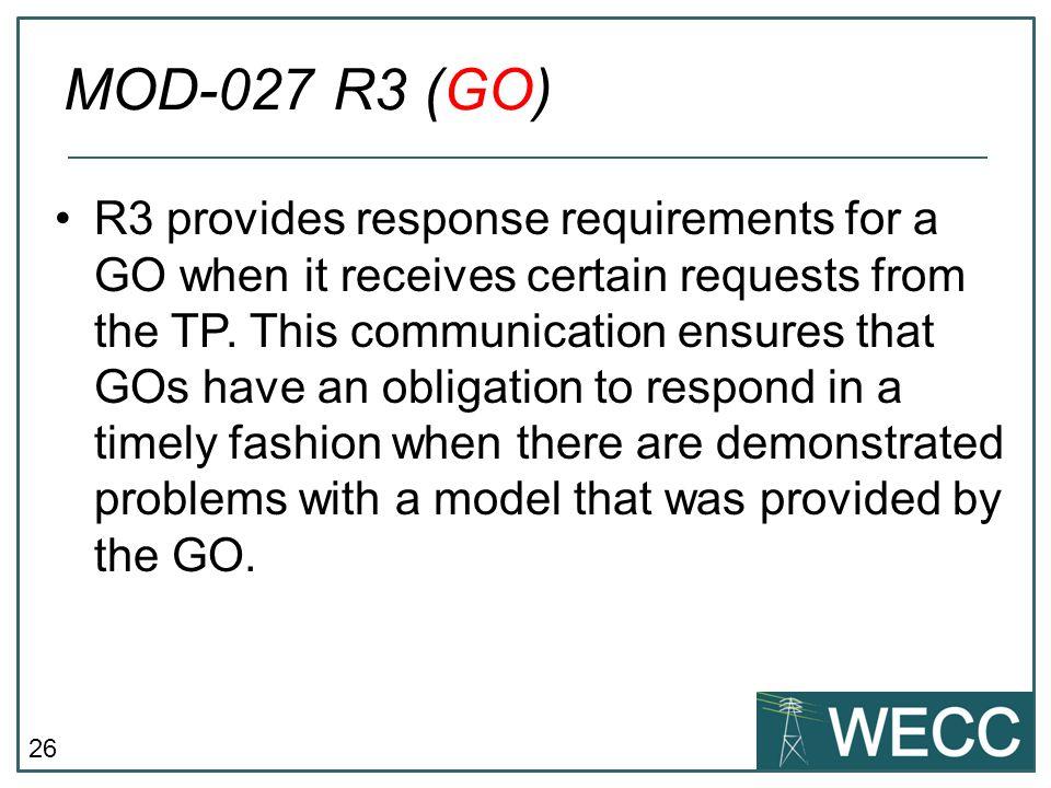 MOD-027 R3 (GO)