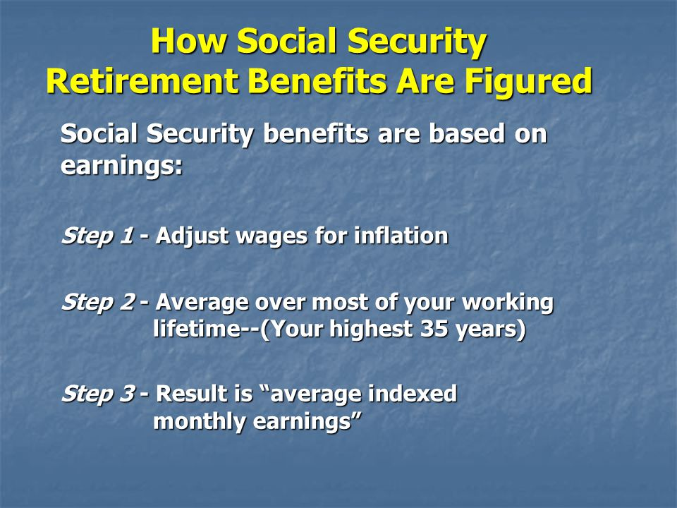 How Social Security Retirement Benefits Are Figured