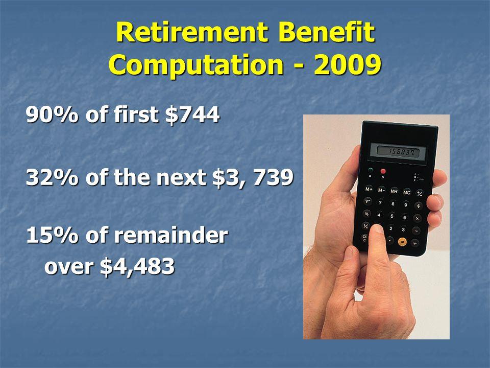 Retirement Benefit Computation - 2009