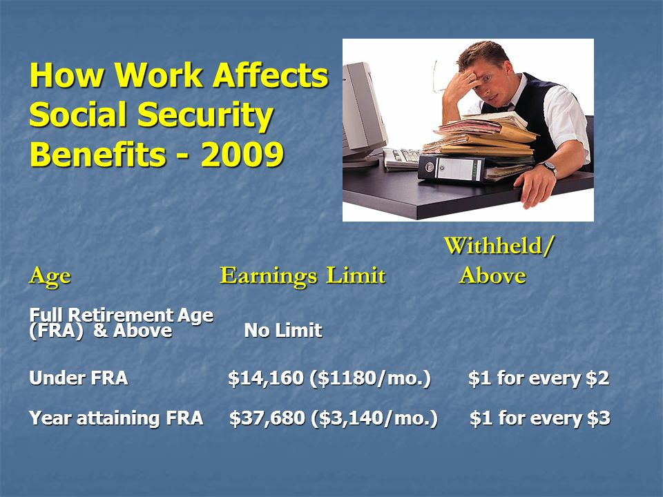 How Work Affects Social Security Benefits - 2009