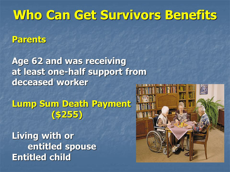 Who Can Get Survivors Benefits