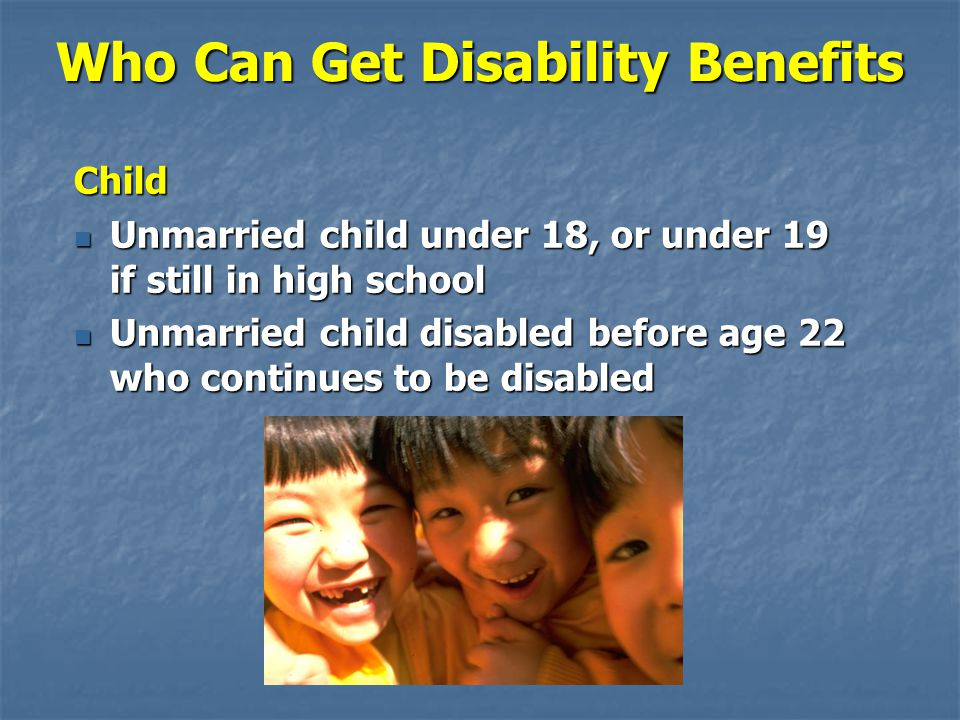 Who Can Get Disability Benefits